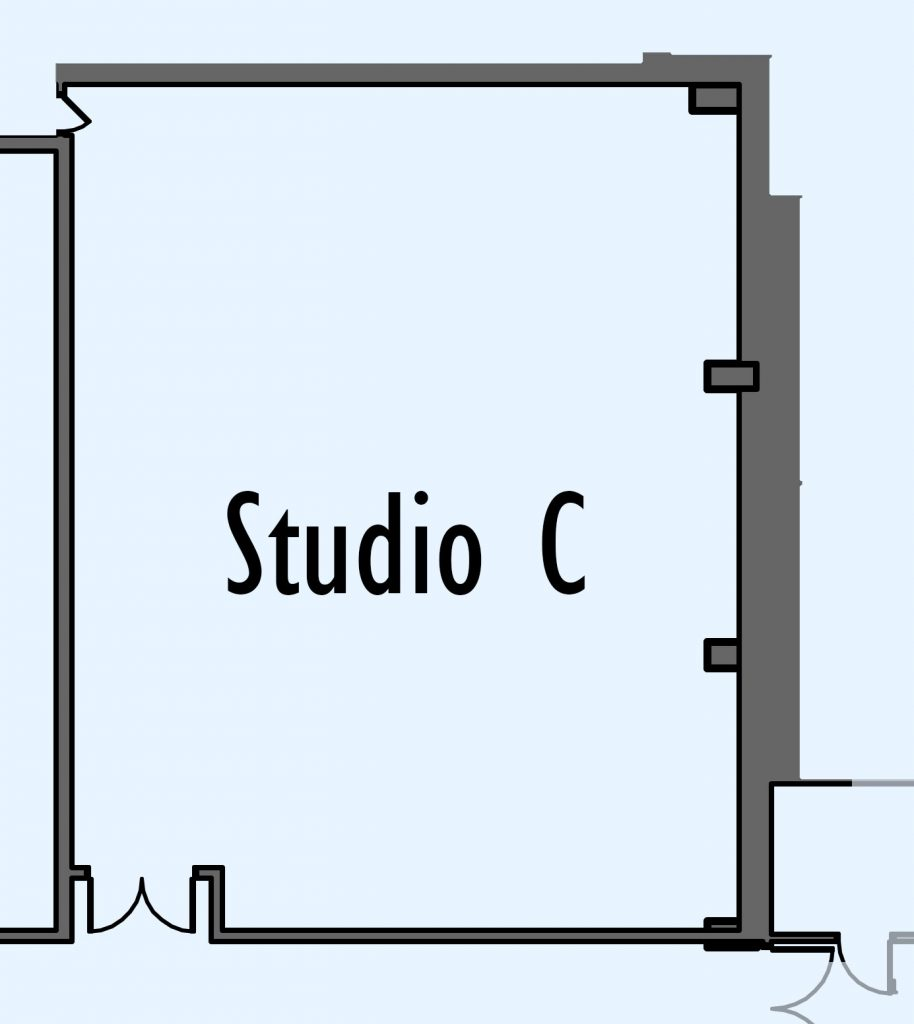 floorplan of Studio A
