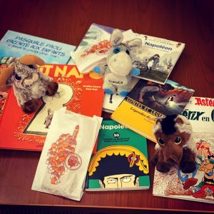 Image of French books and souvenirs