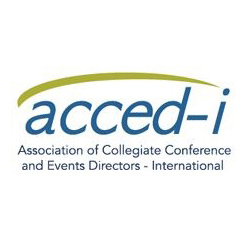 The Association of Collegiate Conference and Events Directors-International's logo.