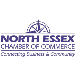 The logo for the North Essex Chamber of Commerce with the tagline Connecting Business and Community.