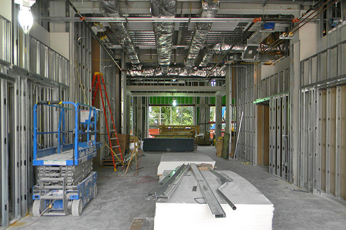 Atrium under construction