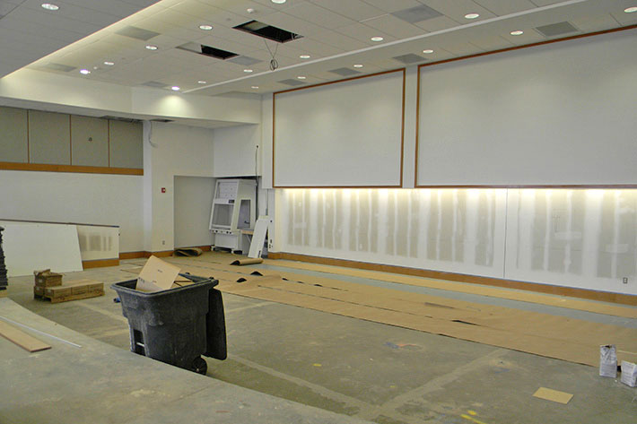 Lecture hall under construction