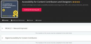 Accessibility for Content Contributors and Designers curriculum