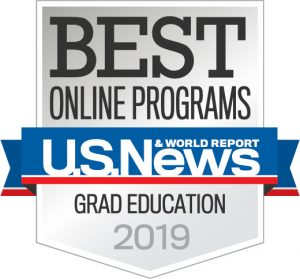 Image of US News and World Report Grad Education 2019 Badge