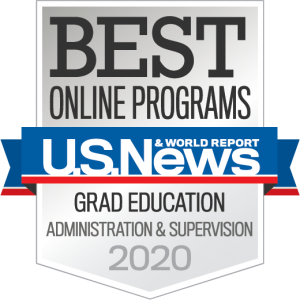 US News and World Report Badge for Best Online Programs Grad Education Administration and Supervision