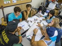 Photo of students in entrepreneurship classroom.