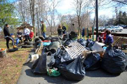 Photo of river clean up.