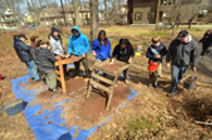 Photo of students at historical dig.