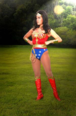 photo of MSU student dressed as Wonder Woman.