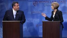 Christie, Buono Gubernatorial Debate.