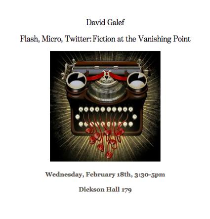 Photo of David Galef Poster