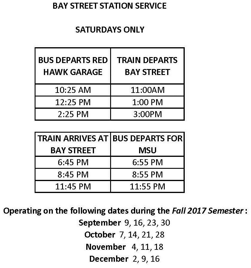 Public Transit Information – University Facilities