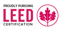 Proudly Pursuing LEED Certification Badge