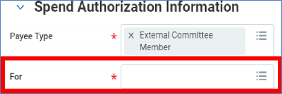 spend authorization information screen