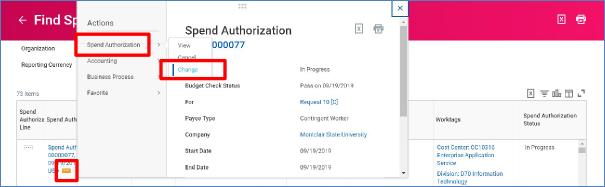change spend authorization