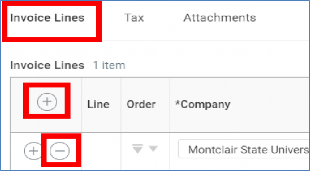 invoice lines add button