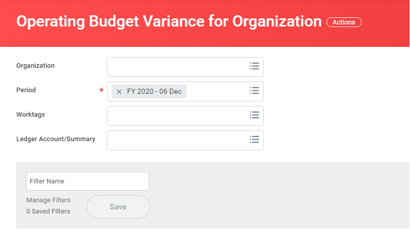 operating budget variance for organization (2)