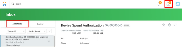 revise spend authorization