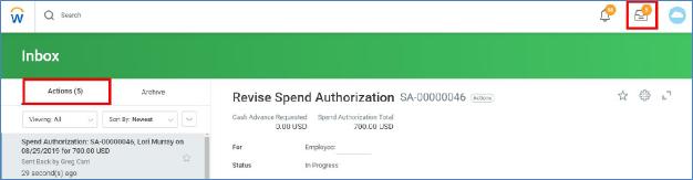revise spend authorization