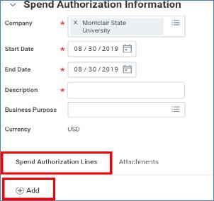 spend authorization lines