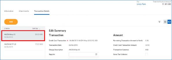 transactions details tab