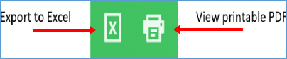 export or print icons