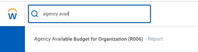agency available budget for organization