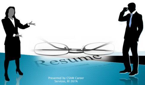 resume writing workshop for csam majors montclair state university