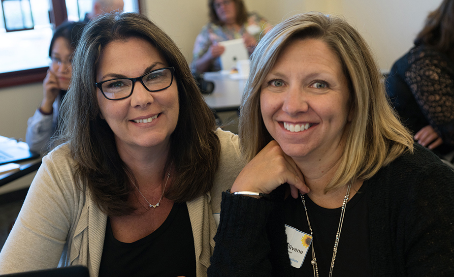 Courtney Volpe and Pam Fallivene, 2017 Summer Institute