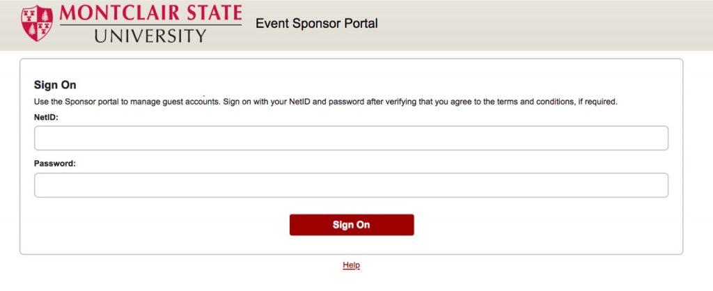Event sponsor portal