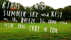 "Image with ""Ordinary Love"" lyrics"