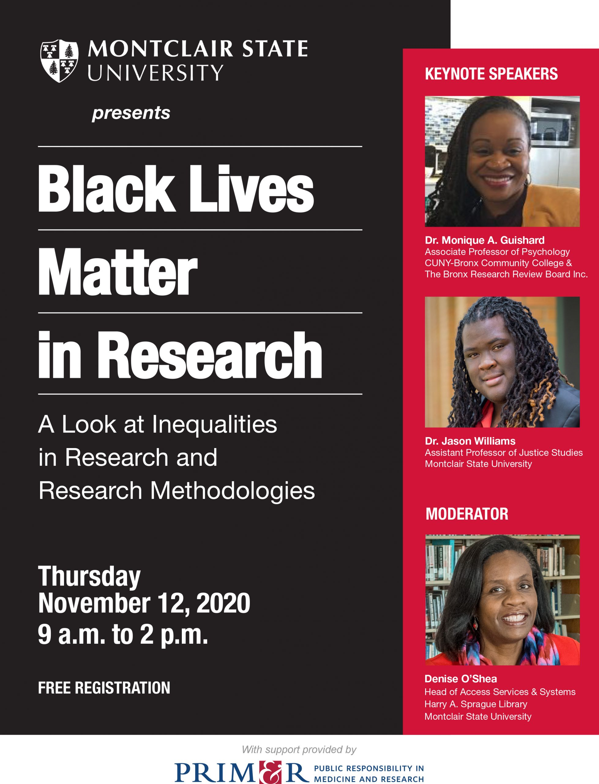 Black Live Matter in Research Event - 11/12/20