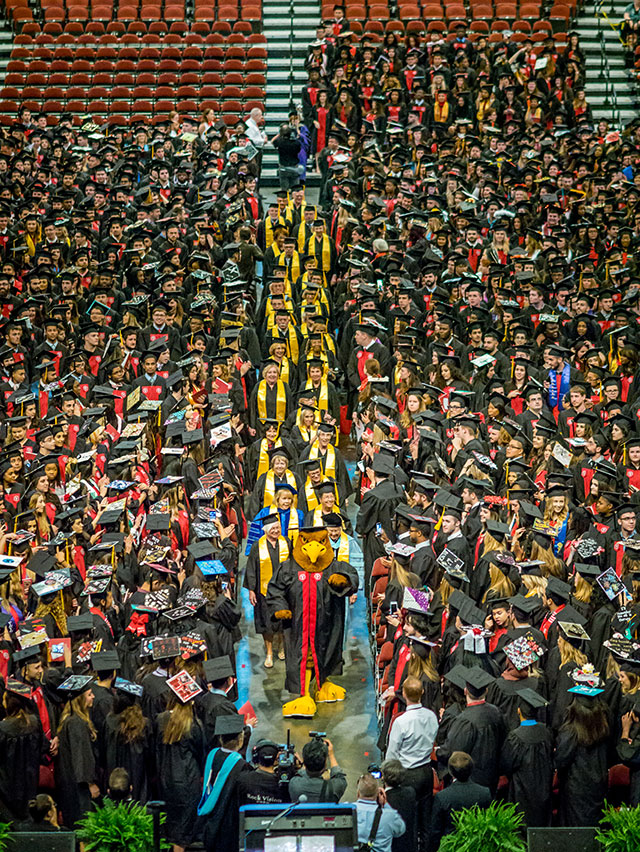 Procession at Commencement.