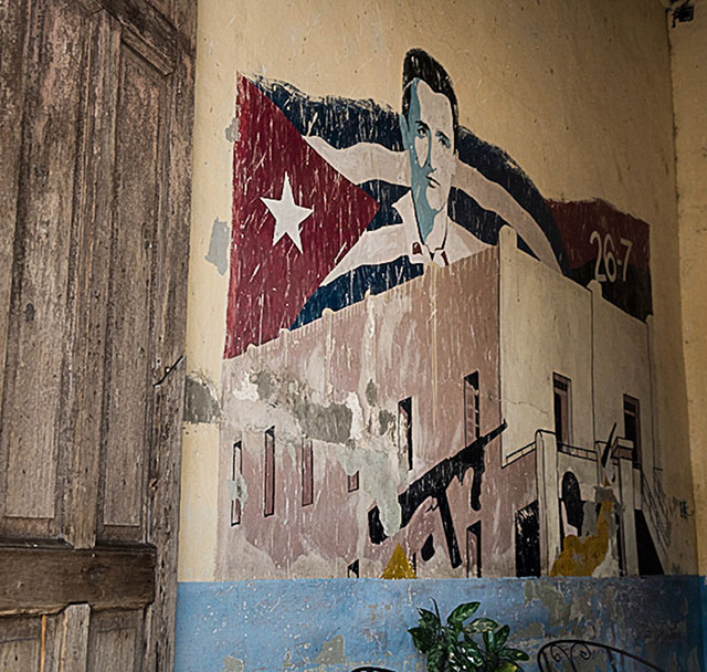 Photo of a Cuban mural in Cuba.