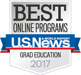 Best Online Programs in Graduate Education for the year 2017 from the U.S. News & World Report.
