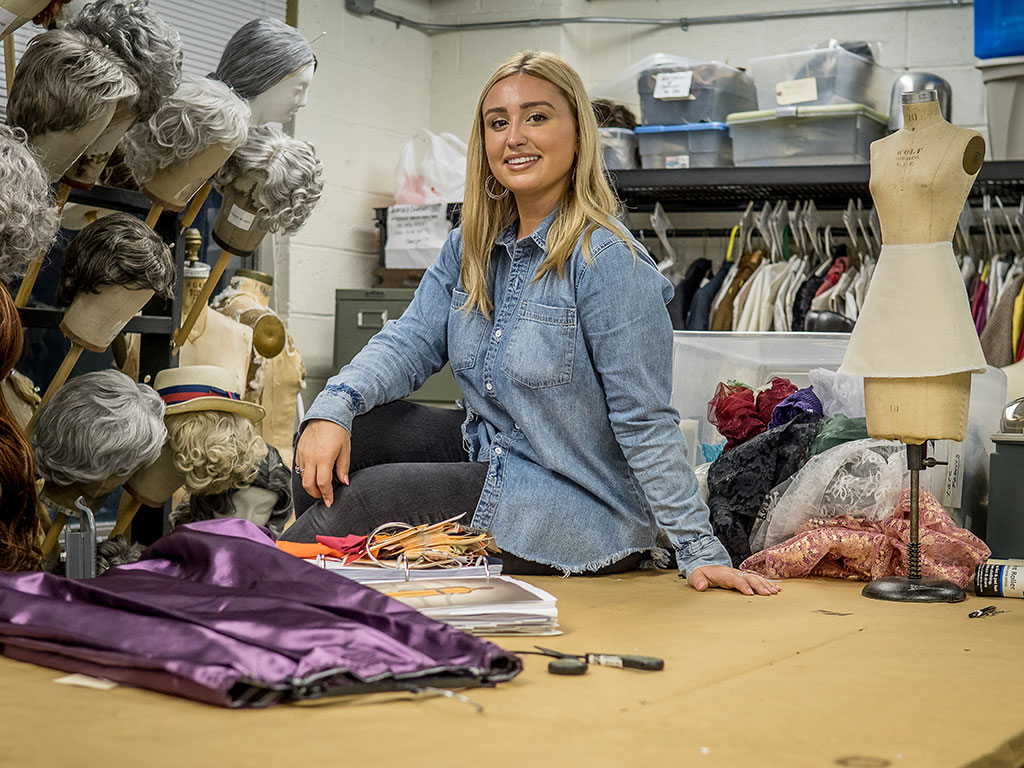 Cheyenne Pellicoro interned with the costume design team of Hamilton.