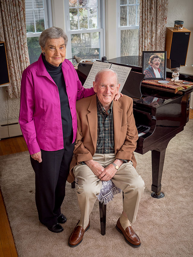 In memory of their son, David, Tom and Lucy Ott established scholarships for students studying music therapy.