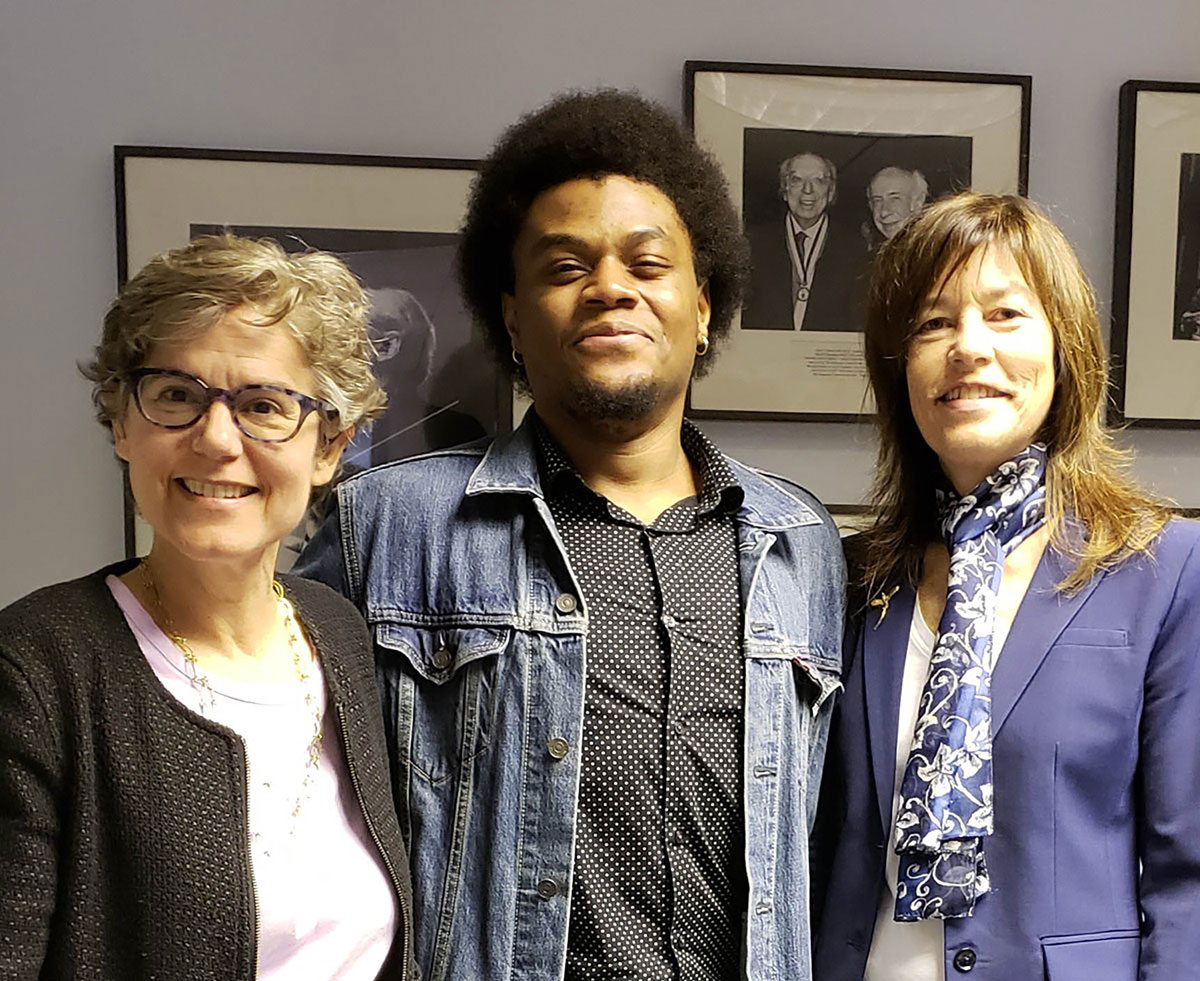 Aferdian Stephens with ASCAP's Cia Toscanini and ASCAP Foundation Executive Director Colleen McDonough