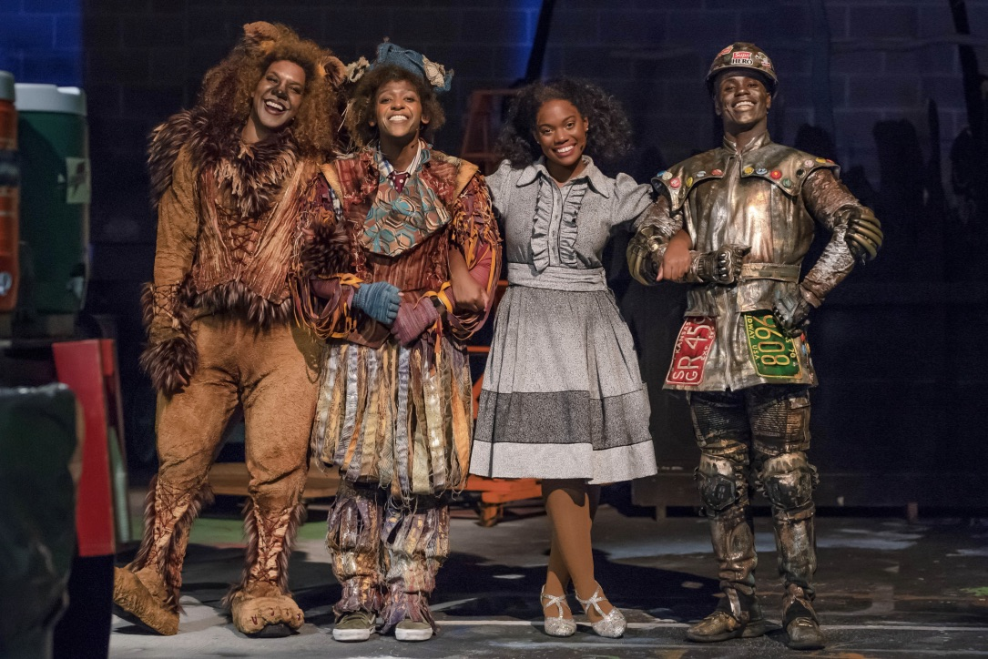 Actors in The Wiz dressed in Leon Dobkowski's designs.