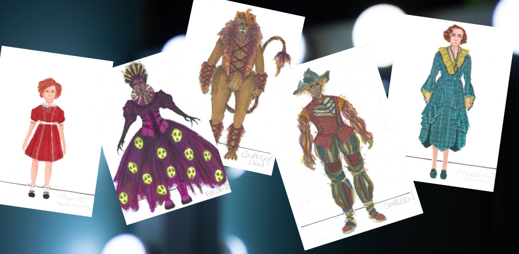 Alumnus Leon Dobkowski designed costumes for The Wiz and Annie at The Muny in St. Louis.