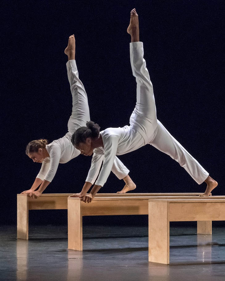 Dancers Tayler Riveron and Marsha Pierre perform To Have and To Hold, the dance they performed with Montclair State classmates at the Kennedy Center in June.
