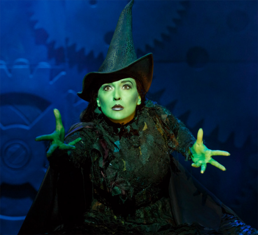 Jessica Vosk '07 starring as Elphaba on Broadway.