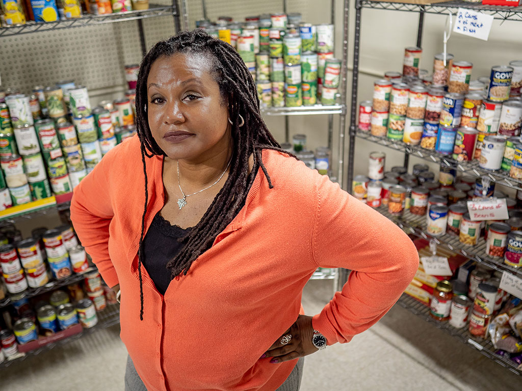 Sonja Tillman has managed the Red Hawk Pantry since 2016.