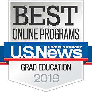 Best Online Programs Grad Education 2019 badge