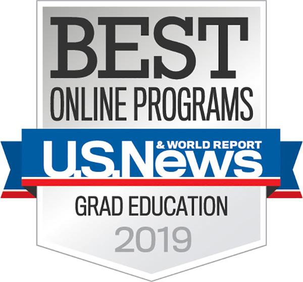 Best Online Programs Grad Education 2019 badge