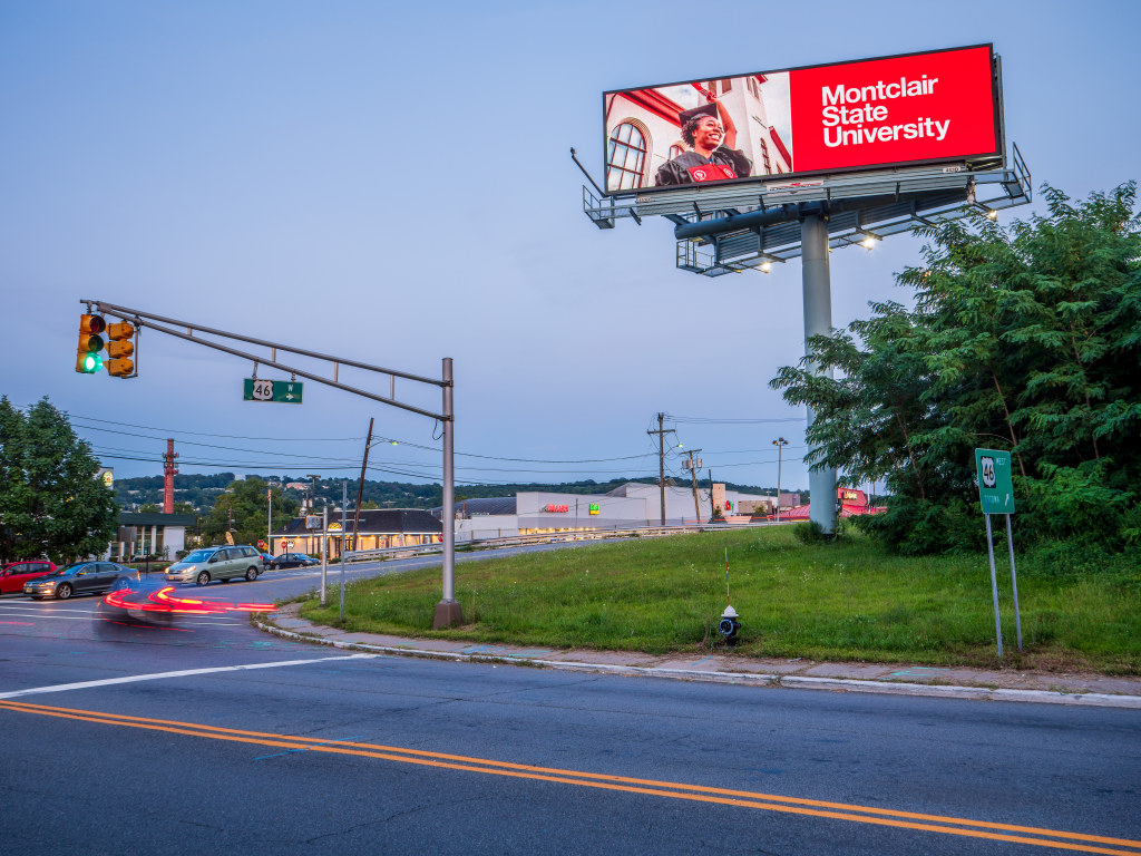 Route 46 Montclair State University billboard