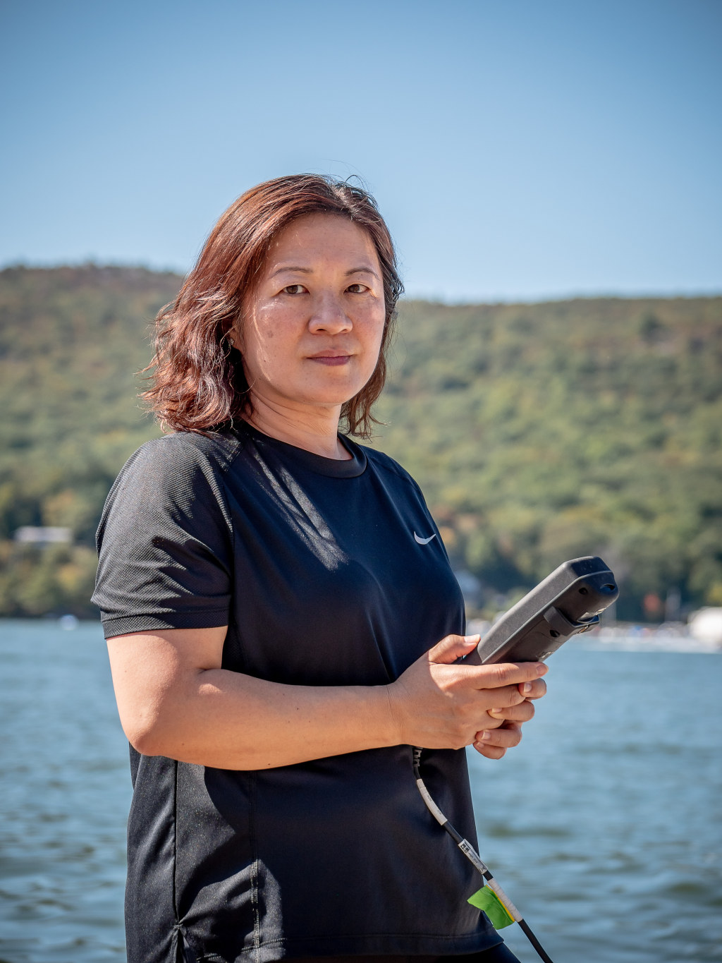 Meiyin Wu's lab works with the NJ DEP to monitor algae and toxins in swimming and drinking water throughout the state.