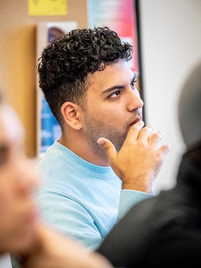 Student in Jeffrey Miller's class