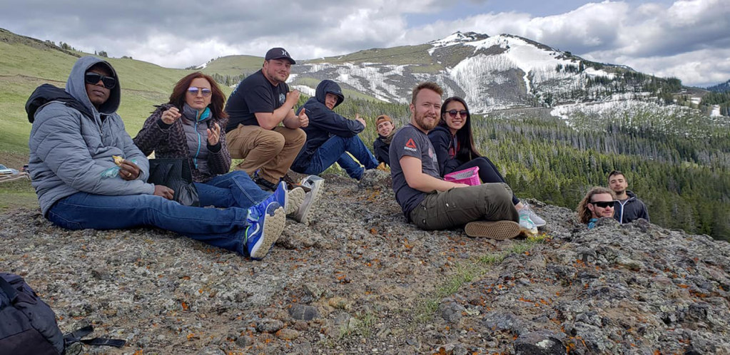 Montclair State geology students at the summit of Red Butte, Montana.
