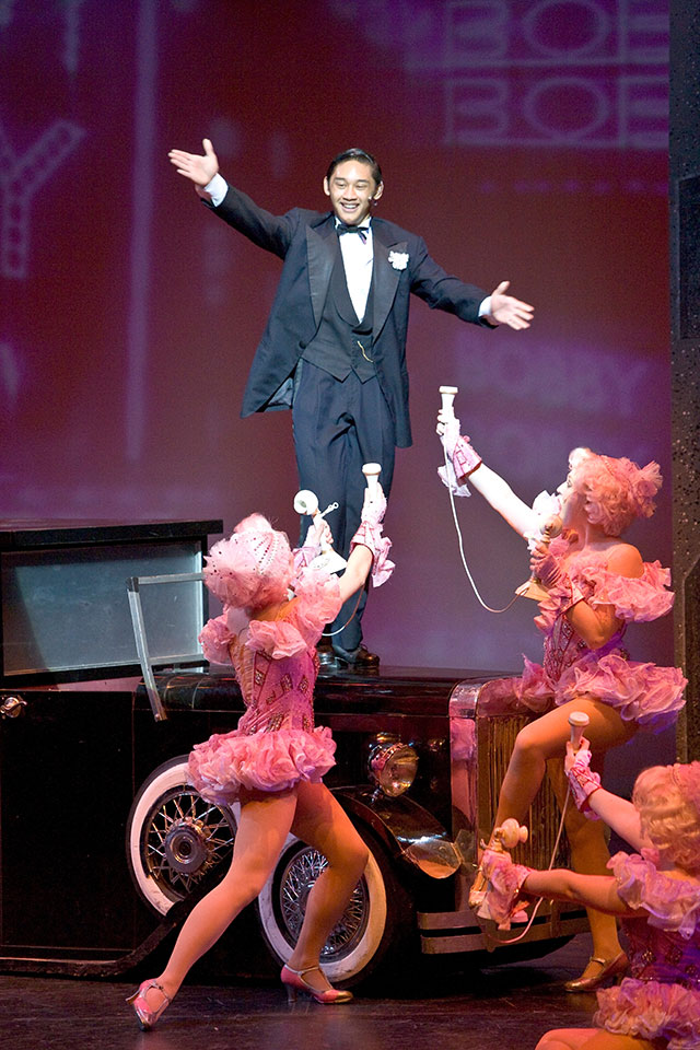 Josh Dela Cruz as Bobby Child in Montclair State's production of Crazy for You, 2008.